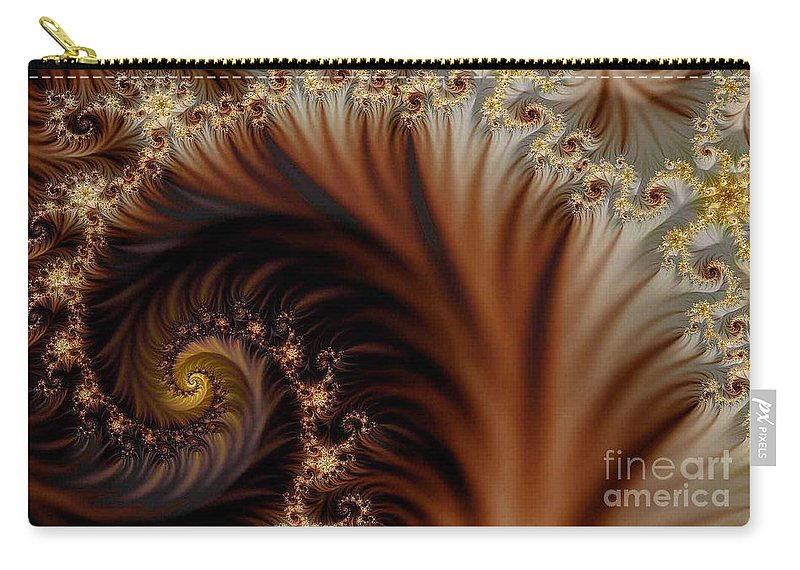 Clay Carry-all Pouch featuring the digital art Gold In Them Hills by Clayton Bruster