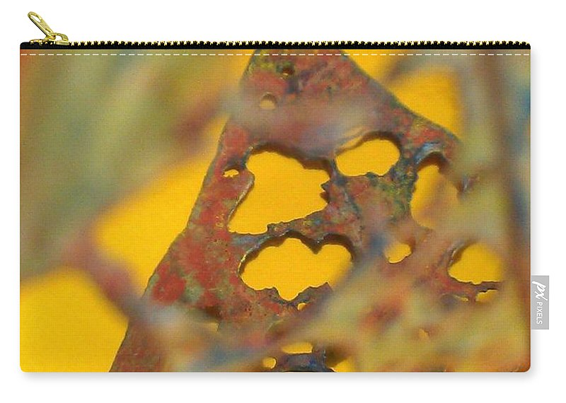 Gold Carry-all Pouch featuring the photograph Gold Leaf 3 by Jennifer Bright