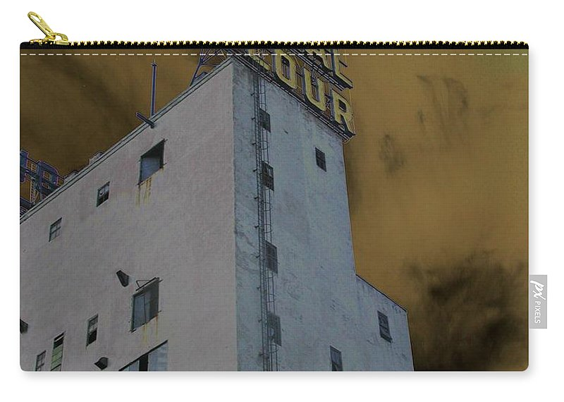 Minneapolis Carry-all Pouch featuring the photograph Gold Medal Flour by Tom Reynen