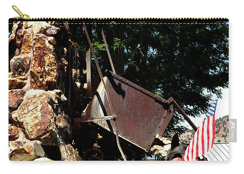 Usa Carry-all Pouch featuring the photograph Gold Mining Virginia City Nv by LeeAnn McLaneGoetz McLaneGoetzStudioLLCcom