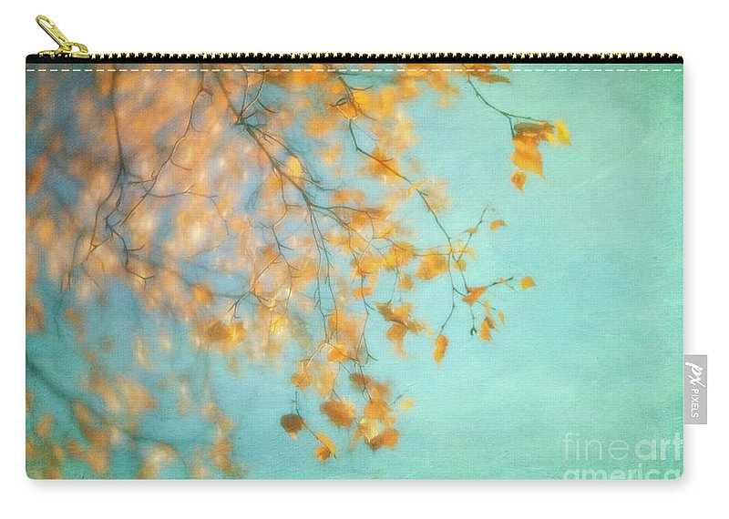 Golden Carry-all Pouch featuring the photograph Gold by Priska Wettstein