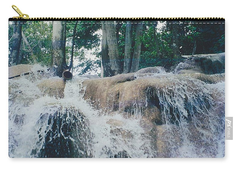 Water Carry-all Pouch featuring the photograph Gold Rock by Michelle Powell