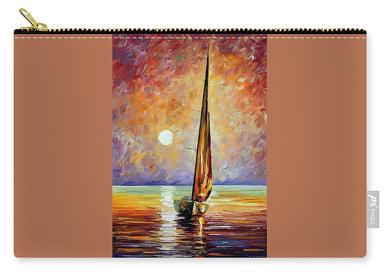 Afremov Carry-all Pouch featuring the painting Gold Sail by Leonid Afremov