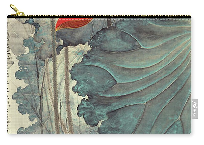 Zhang Daqian (10 May 1899 – 2 April 1983) Was One Of The Best-known And Most Prodigious Chinese Artists Of The Twentieth Century. Originally Known As A Guohua (traditionalist) Painter Carry-all Pouch featuring the painting Gold Thread Lotus by Zhang Daqian