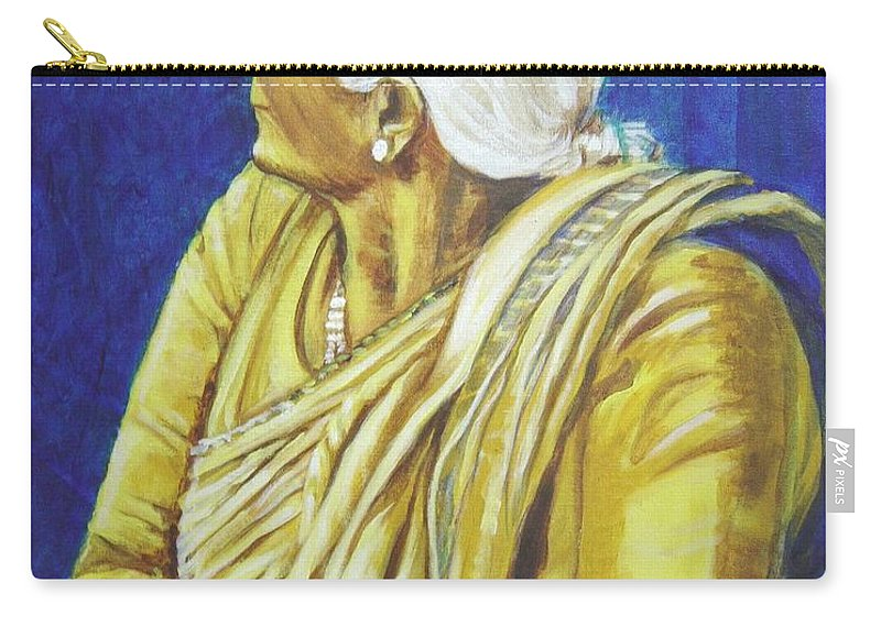Usha Carry-all Pouch featuring the painting Golden Age 1 by Usha Shantharam