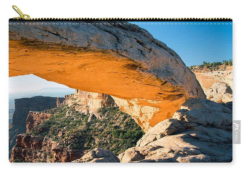 Glowing Carry-all Pouch featuring the photograph Golden Arch by Nicholas Blackwell