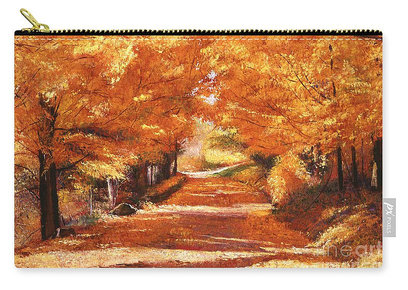 Autumn Carry-all Pouch featuring the painting Golden Autumn by David Lloyd Glover