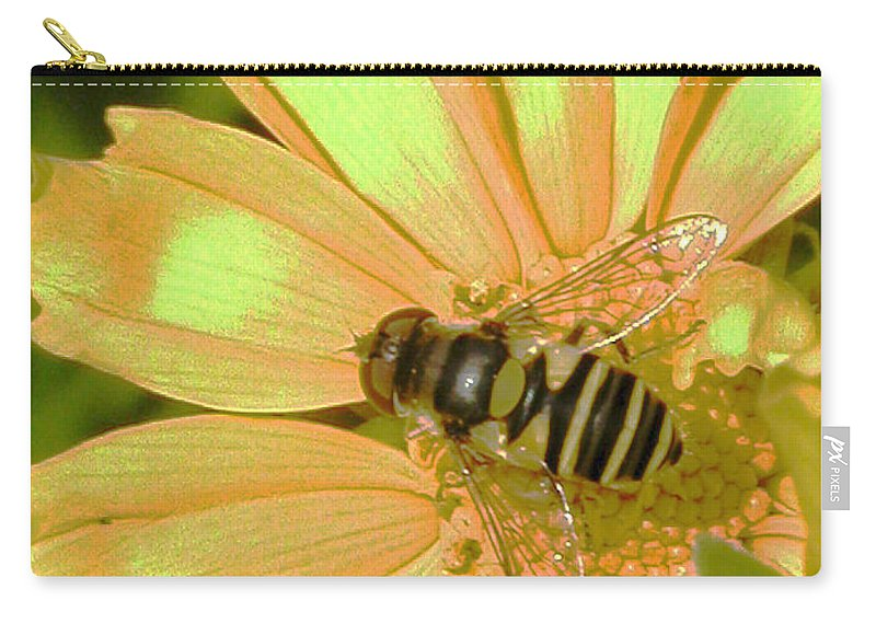 Bee Carry-all Pouch featuring the photograph Golden Bee by Karol Livote