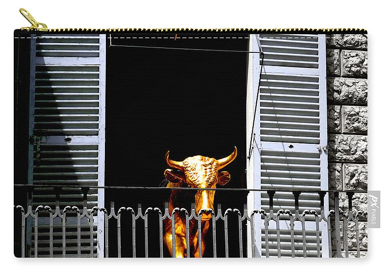 Bull Carry-all Pouch featuring the photograph Golden Bull by Charles Stuart