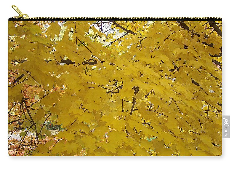 Fall Autum Trees Maple Yellow Carry-all Pouch featuring the photograph Golden Canopy by Karin Dawn Kelshall- Best
