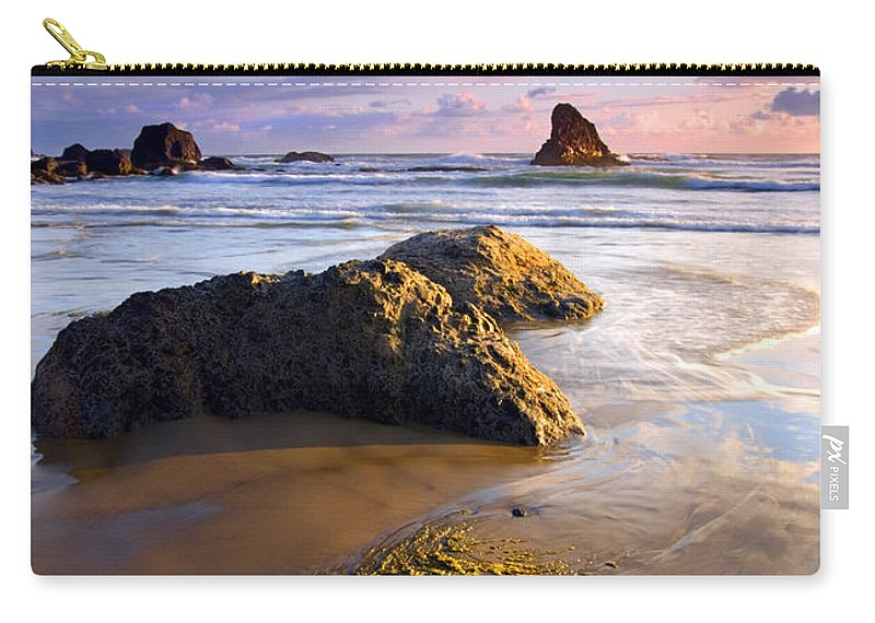 Beach Carry-all Pouch featuring the photograph Golden Coast by Mike Dawson
