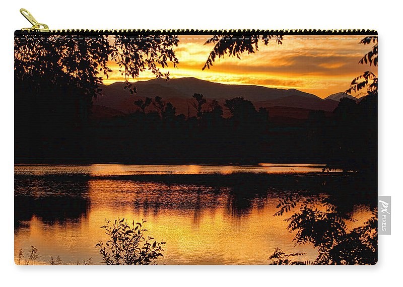Gold Carry-all Pouch featuring the photograph Golden Day At The Lake by James BO Insogna