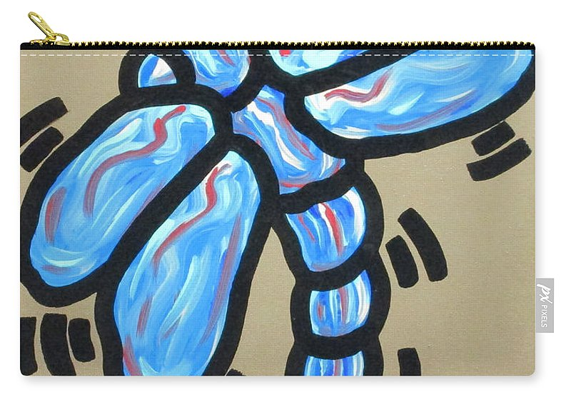 Abstract Carry-all Pouch featuring the painting Golden Dragonfly by Parker Beaudoin