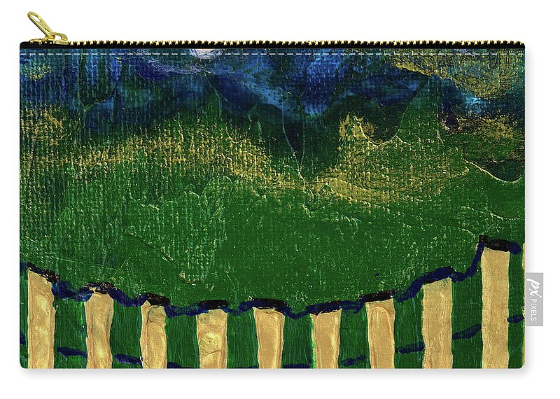 Evening Carry-all Pouch featuring the painting Golden Evening by Donna Blackhall