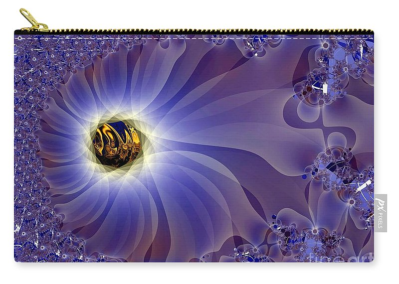 Eye Carry-all Pouch featuring the digital art Golden Eye by Ron Bissett