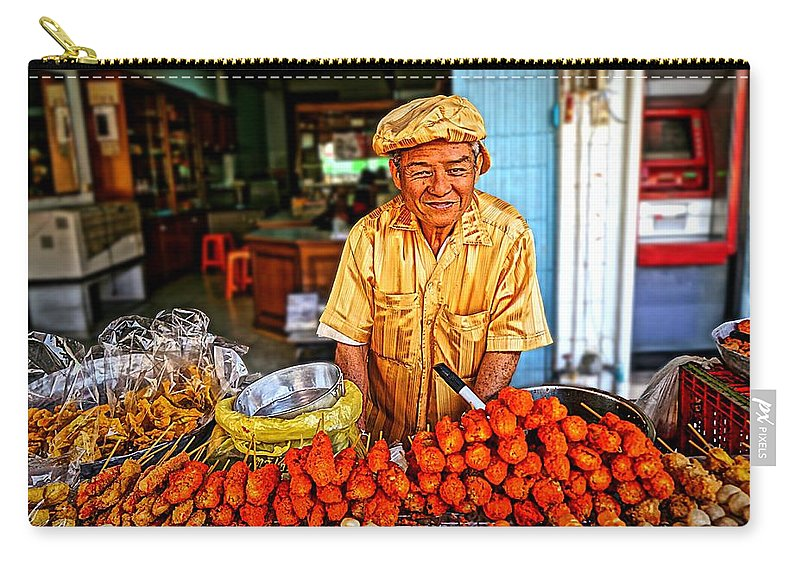 Food Carry-all Pouch featuring the photograph Golden Fries by Ian Gledhill