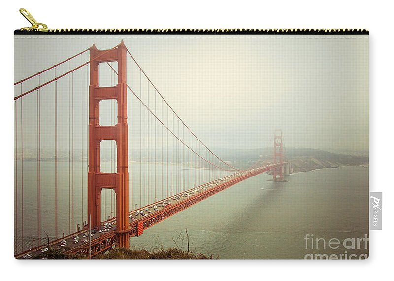 Golden Gate Carry-all Pouch featuring the photograph Golden Gate Bridge by Ana V Ramirez