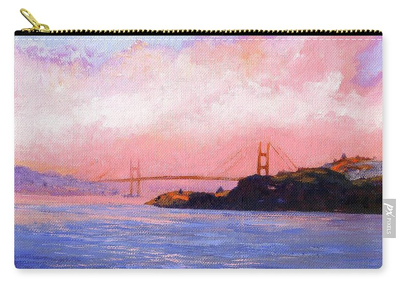 Landscape Carry-all Pouch featuring the painting Golden Gate Bridge by Frank Wilson