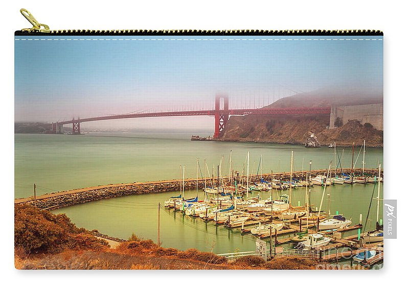 Golden Gate Bridge Carry-all Pouch featuring the photograph Golden Gate Bridge Sausalito by Benny Marty