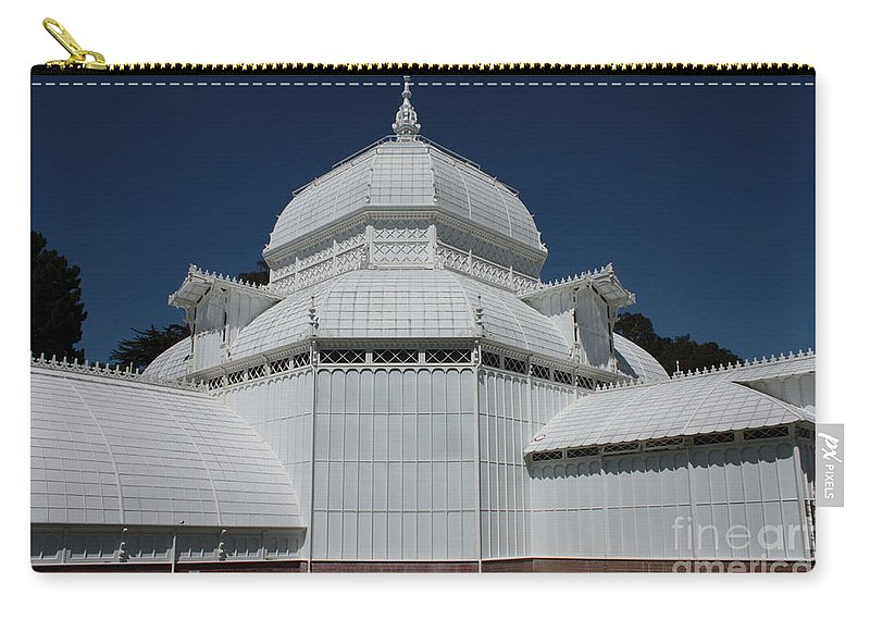White Carry-all Pouch featuring the photograph Golden Gate Conservatory by Carol Groenen