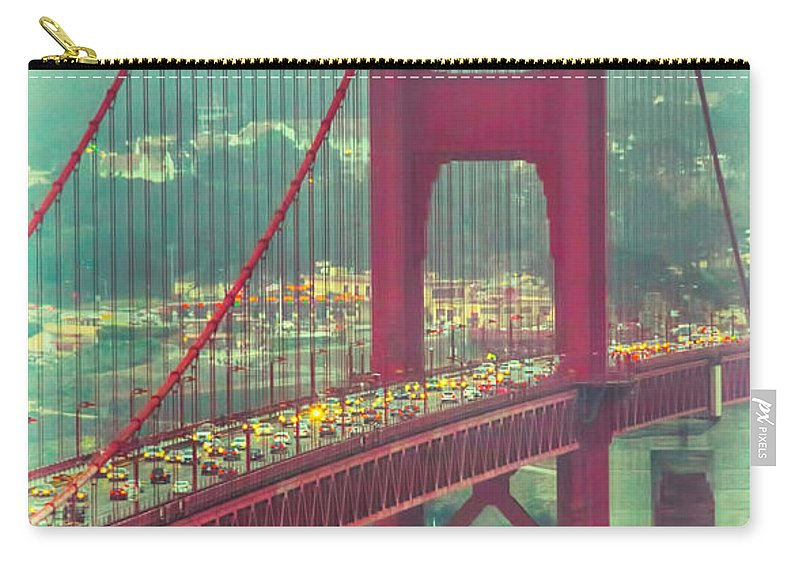 Landscape Carry-all Pouch featuring the photograph Golden Gate Portrait by Laura Macky