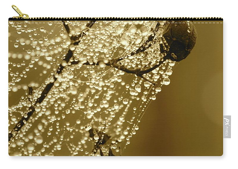 Carry-all Pouch featuring the photograph Golden Globes by Carol Groenen