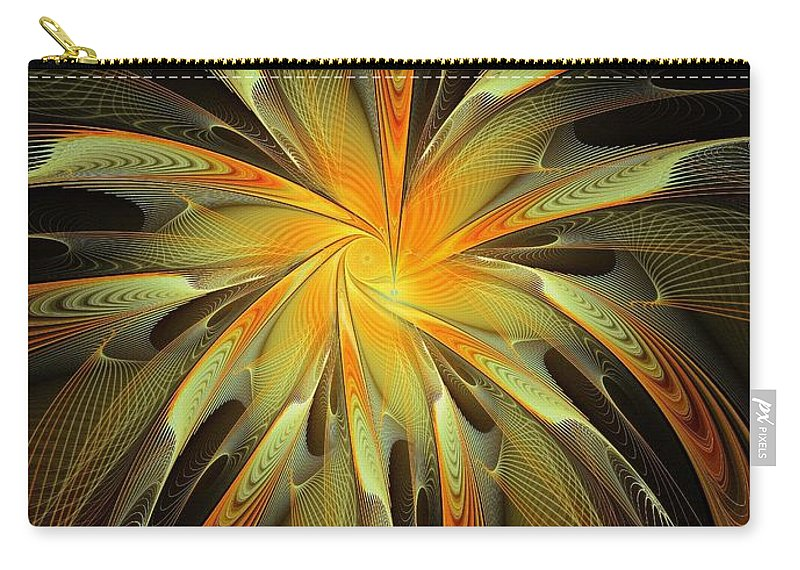 Apophysis Carry-all Pouch featuring the digital art Golden Glory by Amanda Moore