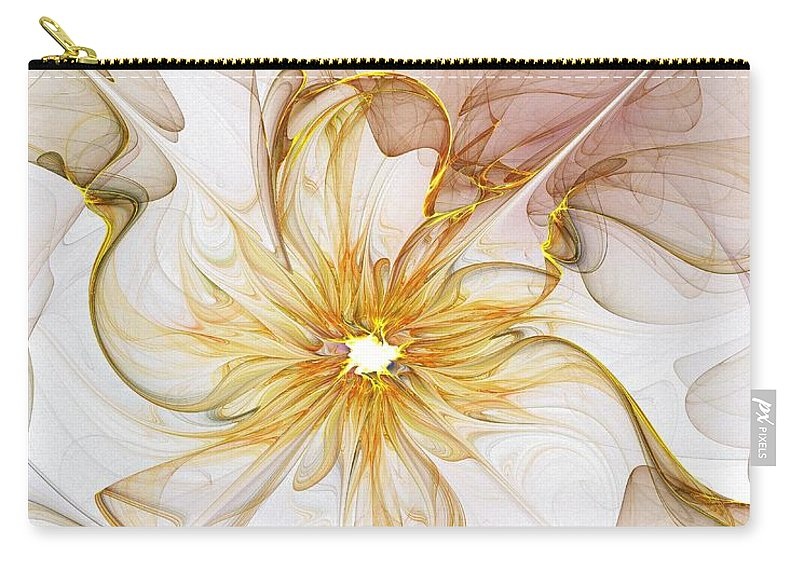 Digital Art Carry-all Pouch featuring the digital art Golden Glow by Amanda Moore