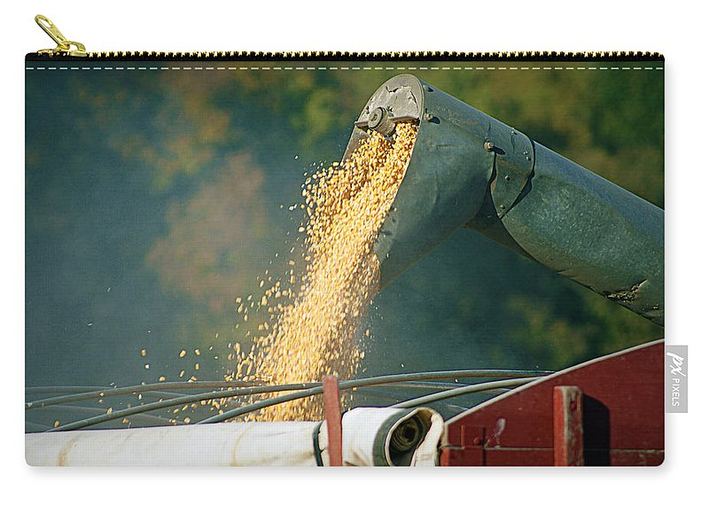 Corn Carry-all Pouch featuring the photograph Golden Harvest by Cricket Hackmann