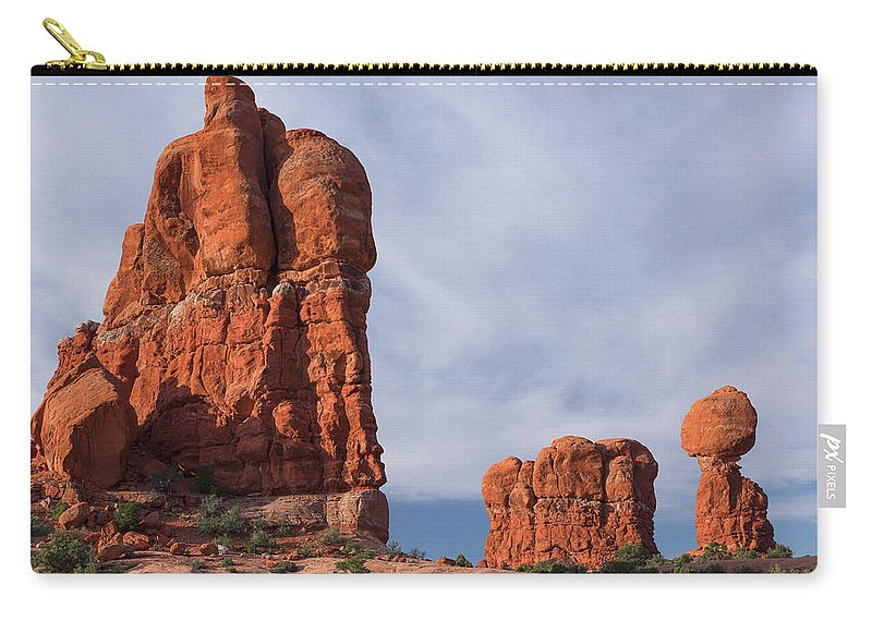 Sandstone Carry-all Pouch featuring the photograph Golden Hoodoos Arches Np by Daniel Kelly