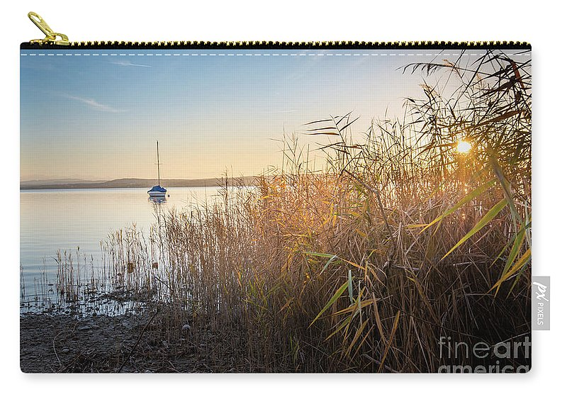 Ammersee Carry-all Pouch featuring the photograph Golden Hour At The Lake by Hannes Cmarits