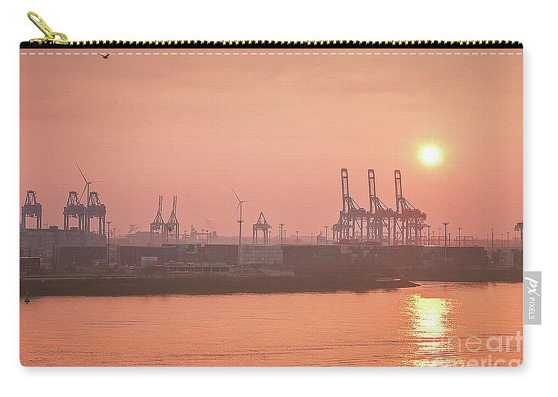 Golden Hour On The Elbe By Marina Usmanskaya Carry-all Pouch featuring the photograph Golden Hour On The Elbe by Marina Usmanskaya