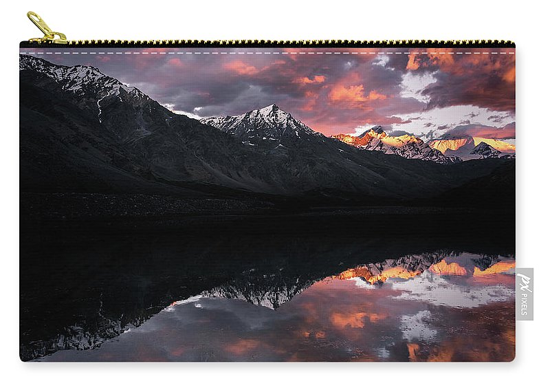 Landscape Carry-all Pouch featuring the photograph Golden Hour by Siddhartha De