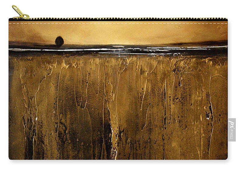 Minimalist Carry-all Pouch featuring the painting Golden Inspirations by Toni Grote