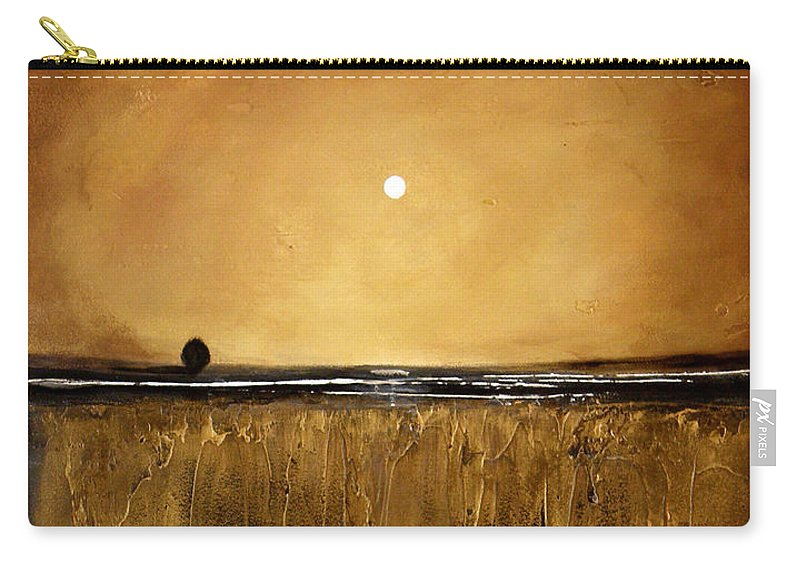 Minimalist Art Carry-all Pouch featuring the painting Golden Inspirations by Toni Grote