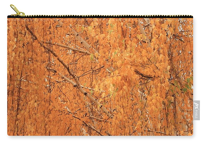 Yellow Carry-all Pouch featuring the photograph Golden Leaves by Carol Groenen