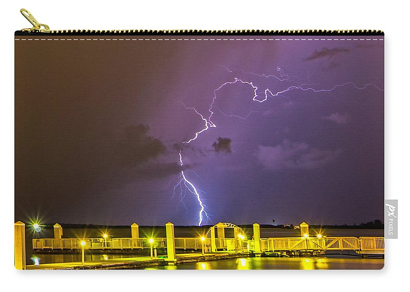 Florida Carry-all Pouch featuring the photograph Golden Marina by Stephen Whalen