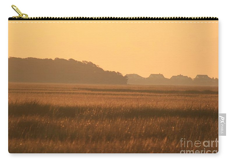 Marsh Carry-all Pouch featuring the photograph Golden Marshes by Nadine Rippelmeyer
