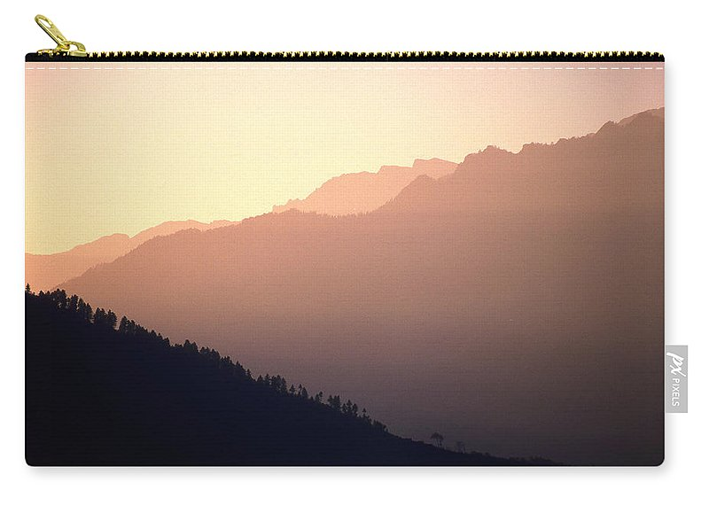 Langtang Carry-all Pouch featuring the photograph Golden Mountains by Patrick Klauss