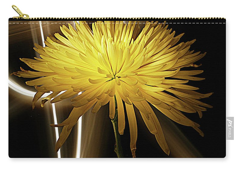 Mum Carry-all Pouch featuring the photograph Golden Mum by Bruce Bradley
