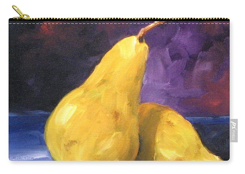 Art Carry-all Pouch featuring the painting Golden Pears by Richard T Pranke