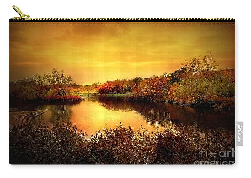 Pond Carry-all Pouch featuring the photograph Golden Pond by Jacky Gerritsen
