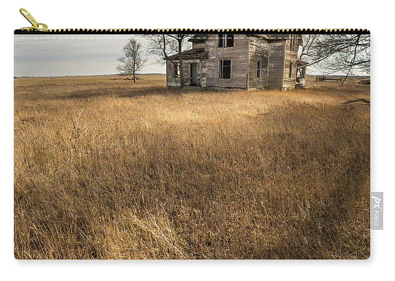 Prairie Carry-all Pouch featuring the photograph Golden Prairie by Aaron J Groen
