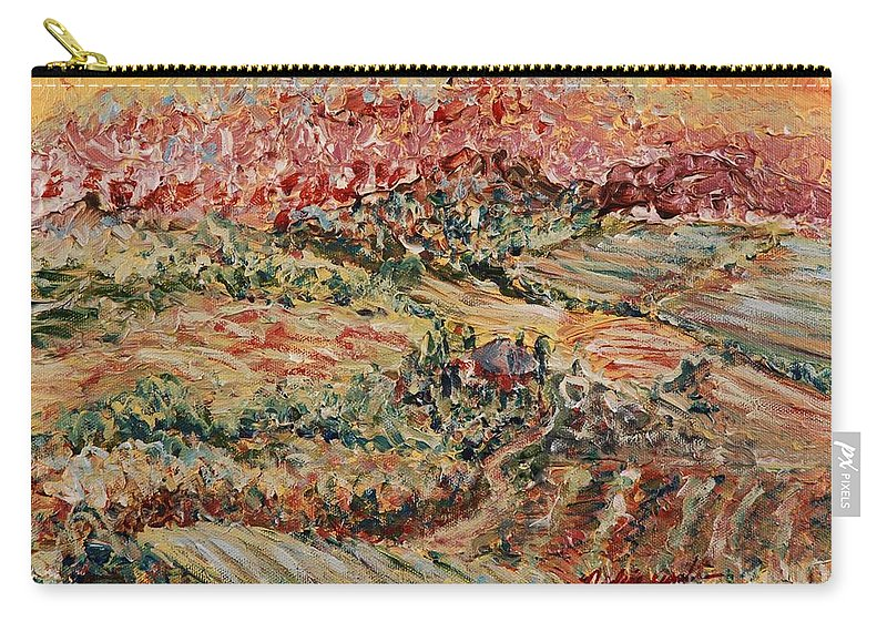 Provence Carry-all Pouch featuring the painting Golden Provence by Nadine Rippelmeyer