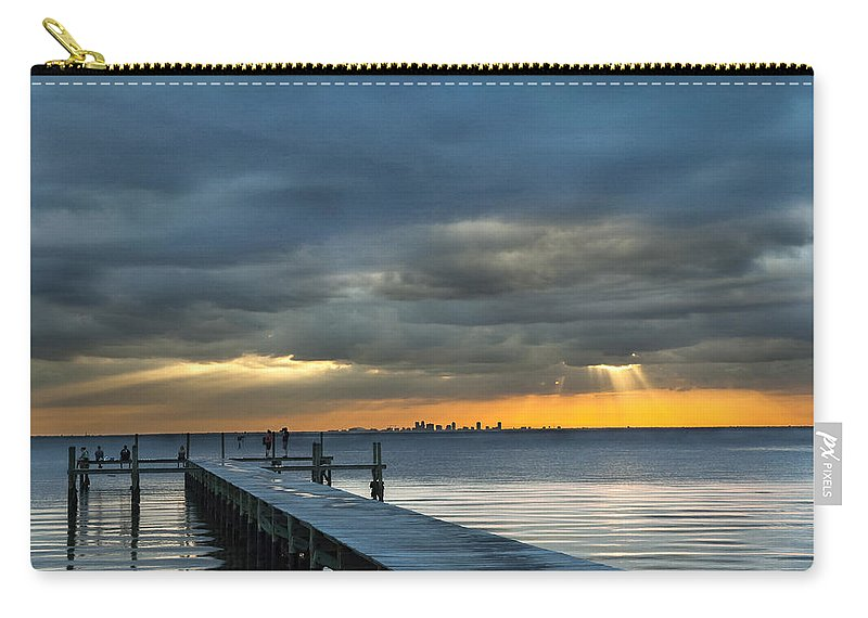 Sunset Carry-all Pouch featuring the photograph Golden Rays by Norman Johnson