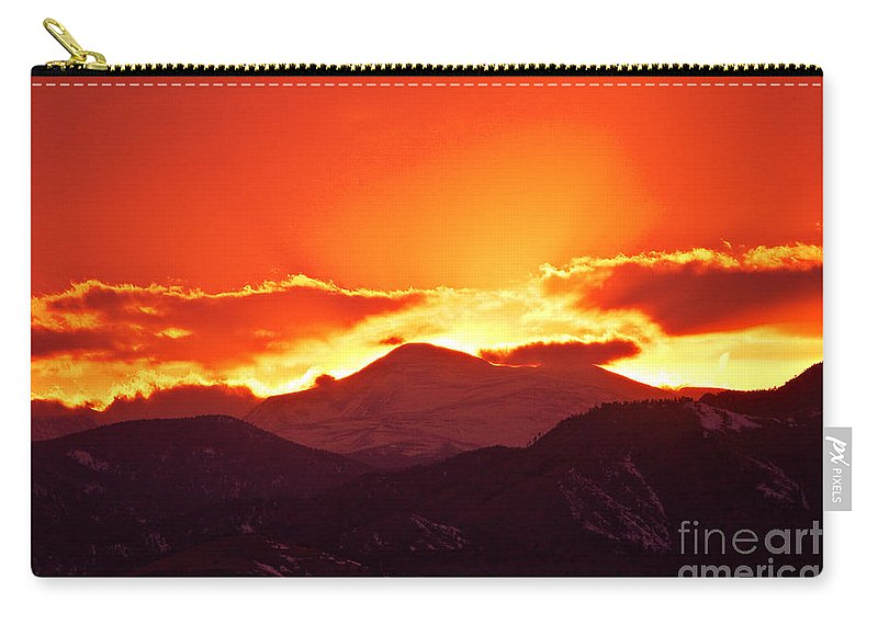 Sunset Carry-all Pouch featuring the photograph Golden Rocky Mountain Sunset by James BO Insogna