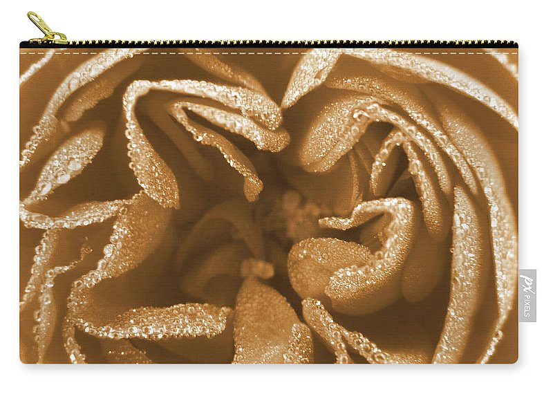 Rose Carry-all Pouch featuring the photograph Golden Rose by Amy Fose