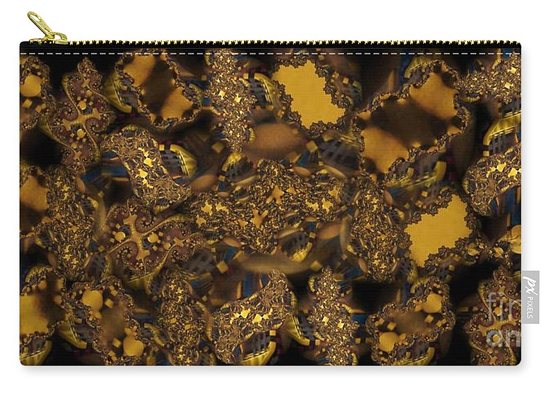 Fractal Carry-all Pouch featuring the photograph Golden Shimmer by Ron Bissett