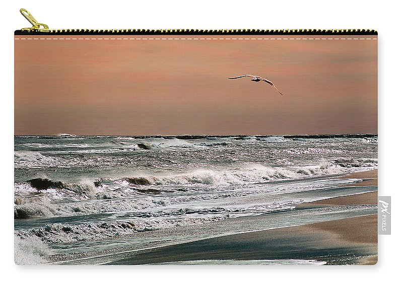 Seascape Carry-all Pouch featuring the photograph Golden Shore by Steve Karol