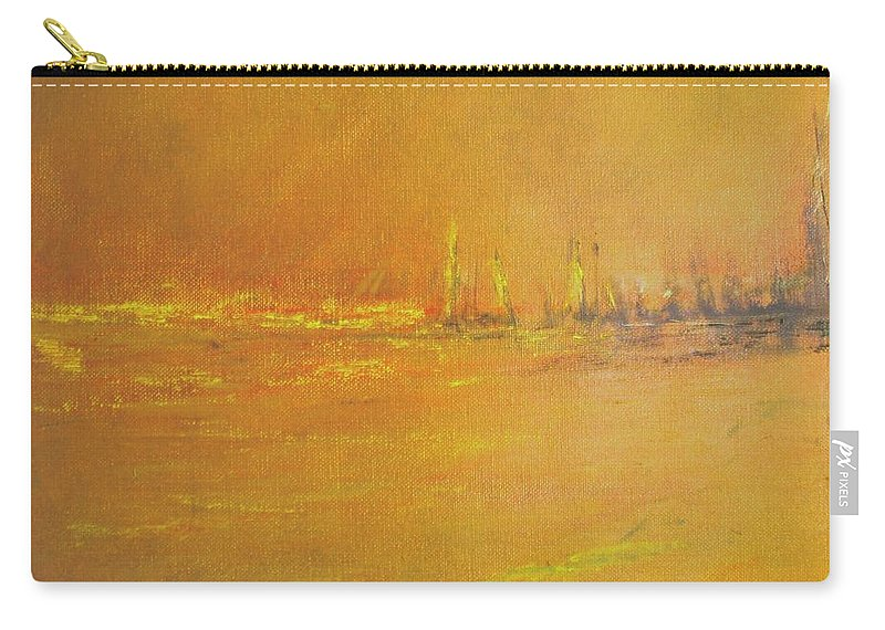 Ships Carry-all Pouch featuring the painting Golden Sky by Jack Diamond